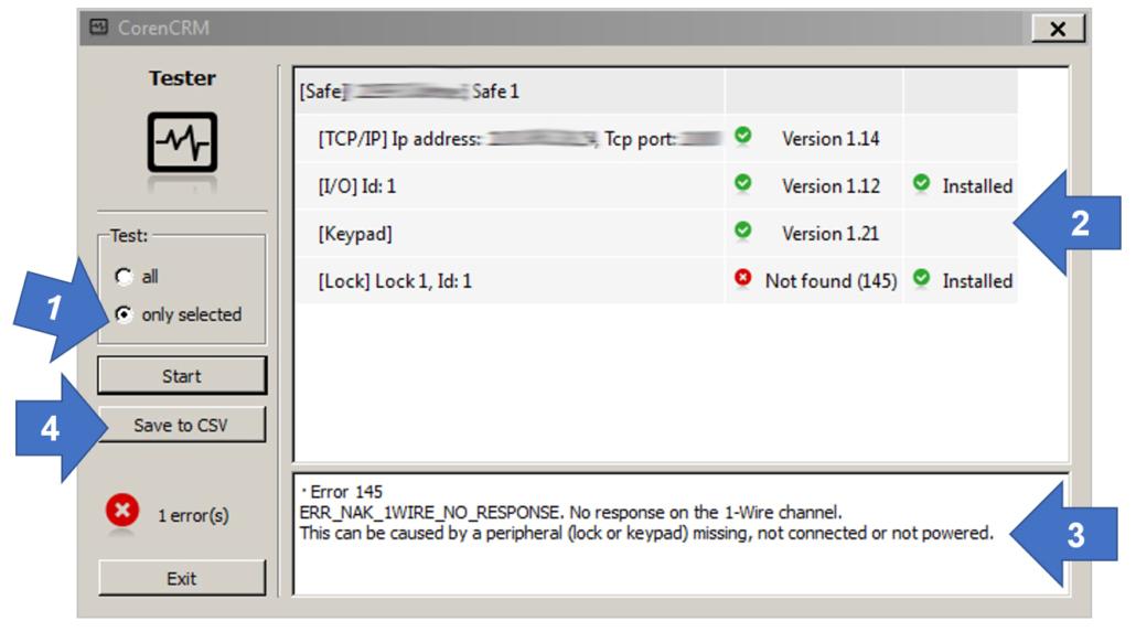 Bildschirmausgabe der Hardwareprüfung bei der Coren Software